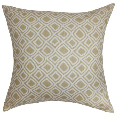 Cacia Cotton Throw Pillow Color: Neutral, Size: 18 x 18