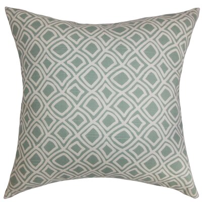 Cacia Cotton Throw Pillow Color: Surf, Size: 18 x 18