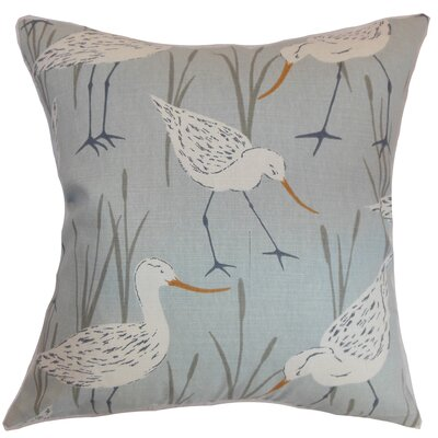 Joensuu Animal Cotton Throw Pillow Cover Size: 18 x 18, Color: Blue Haze