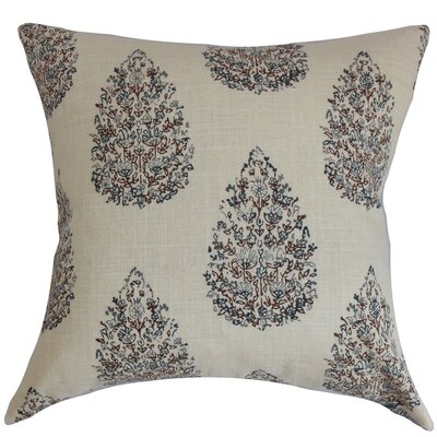 Faeyza Throw Pillow Color: Indigo, Size: 22 x 22