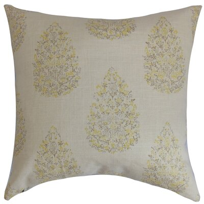 Faeyza Throw Pillow Color: Lemongrass, Size: 18 x 18