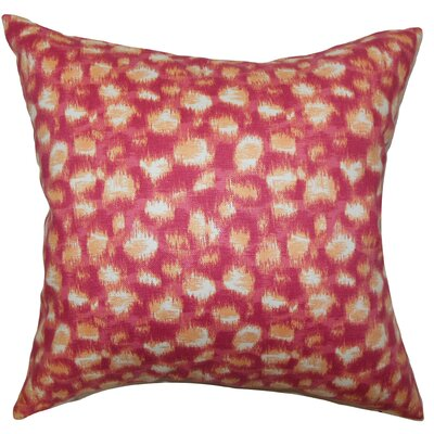 Kibby Cotton Throw Pillow Color: Azalea, Size: 20 x 20
