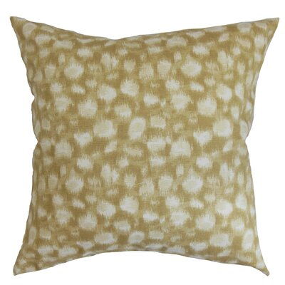 Kibby Cotton Throw Pillow Color: Sand, Size: 20 x 20