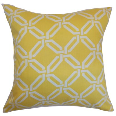 Ulei Cotton Throw Pillow Color: Lemon Ice, Size: 22 x 22