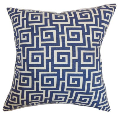 Warder Geometric Bedding Sham Size: King, Color: Blueberry