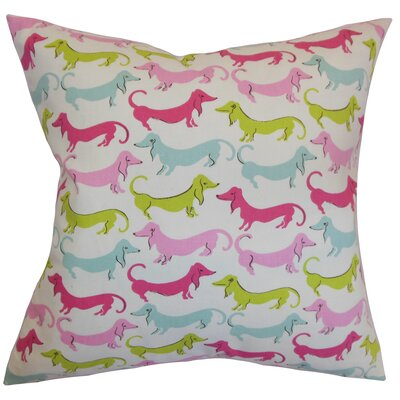Ione Cotton Throw Pillow Color: Bubblegum, Size: 18 x 18