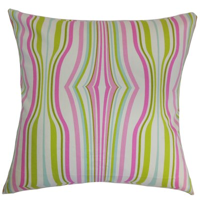 Cachoiera Stripes Cotton Throw Pillow Cover Color: Bubblegum