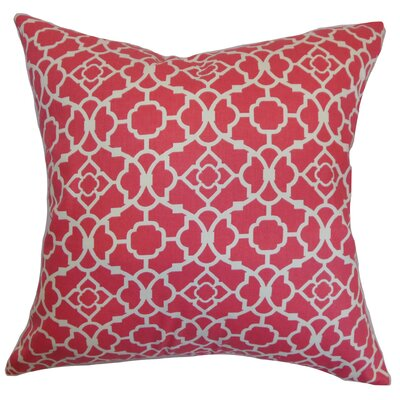 Kalmara Cotton Throw Pillow Color: Pink, Size: 18 x 18