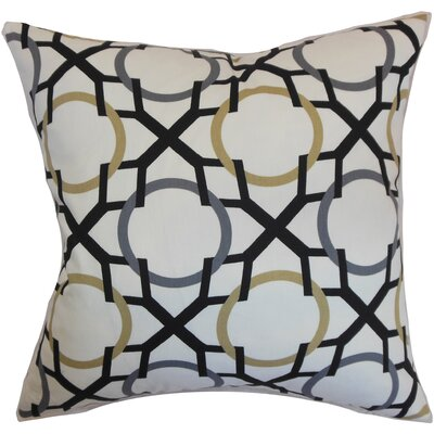 Lacbiche Geometric Cotton Throw Pillow Cover Color: Slate