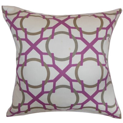 Lacbiche Cotton Throw Pillow Color: Wisteria, Size: 18 x 18