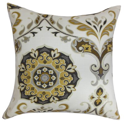 Cervin Floral Bedding Sham Size: Queen, Color: Brown/Gray