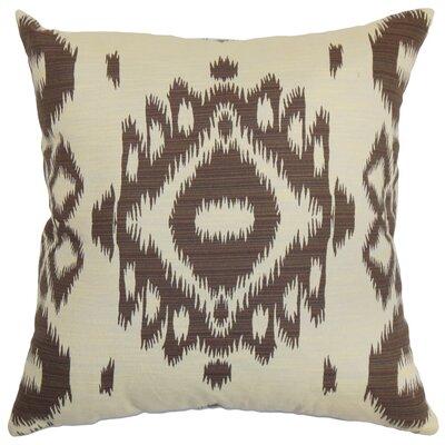 Gaera Cotton Throw Pillow Color: Chocolate, Size: 24 x 24