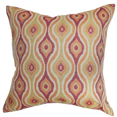 ie Ikat CottonThrow Pillow Color: Sunrise, Size: 18 x 18