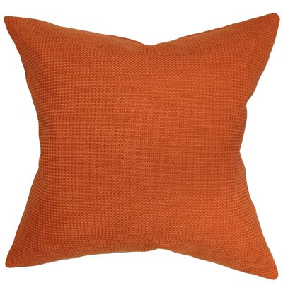Gumamela Throw Pillow Color: Papaya, Size: 18 x 18