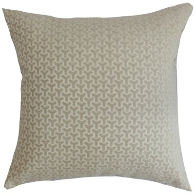 Cinquefoil Geometric Cotton Throw Pillow Cover