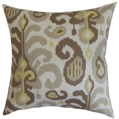 Scebbi Cotton Throw Pillow Color: Mineral, Size: 18 x 18
