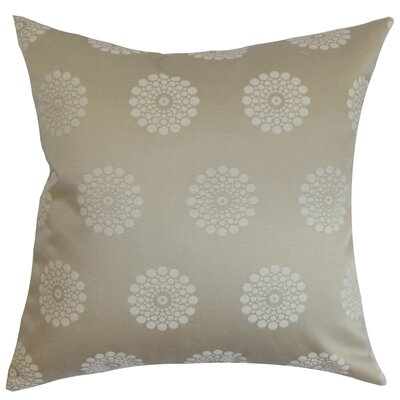 Flix Geometric Cotton Throw Pillow Size: 18x18