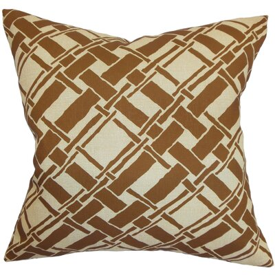 Rygge Cotton Throw Pillow Color: Brown, Size: 20 x 20