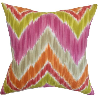 Afutara Ikat Cotton Throw Pillow Size: 18 x 18