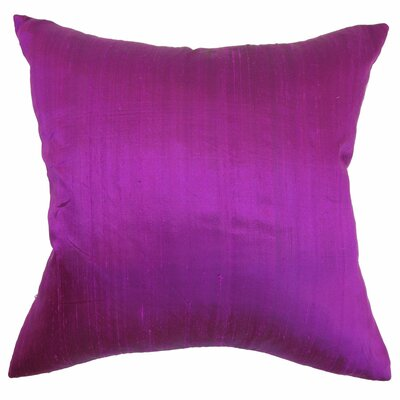 Ekati Plain Silk Throw Pillow Size: 22 x 22