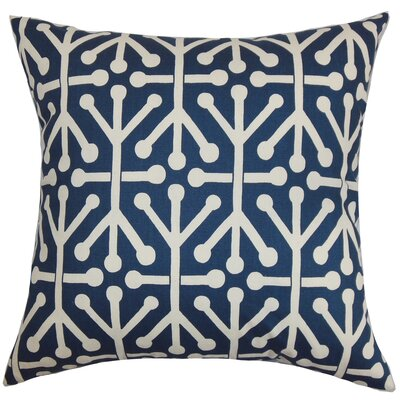 Heath Geometric Bedding Sham Size: Queen, Color: Blue/Natural