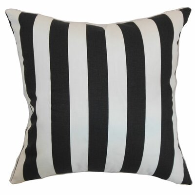 Ilaam Stripes Bedding Sham Color: Black Natural, Size: Euro
