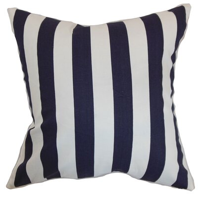 Ilaam Stripes Bedding Sham Size: Queen, Color: Dark Blue