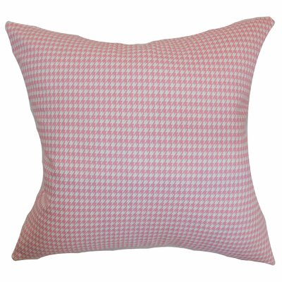 Lviv Cotton Throw Pillow Color: Baby Pink, Size: 18 x 18