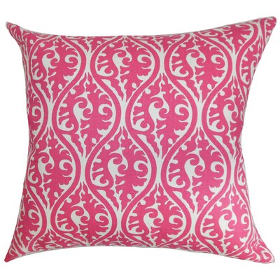 Parsons Geometric Cotton Throw Pillow Color: Candy Pink, Size: 22 x 22