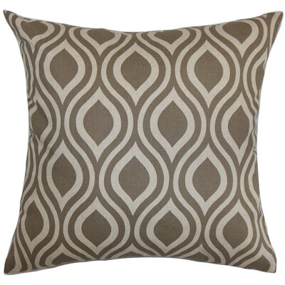 Poplar Geometric Cotton Throw Pillow Color: Kelp, Size: 18 x 18