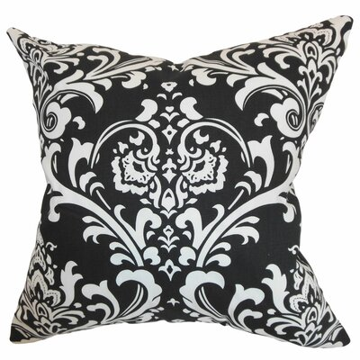 Malaga Damask Bedding Sham Size: Queen, Color: Black