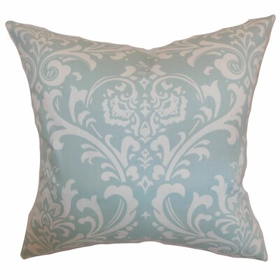 Malaga Damask Bedding Sham Size: Euro, Color: Powder Blue