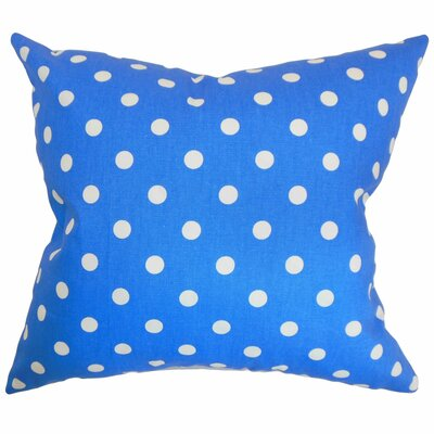 Nancy Polka Dots Throw Pillow Cover Color: Paris Blue White