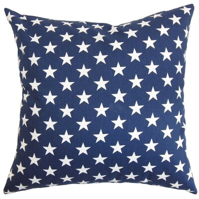 Sitara Cotton Throw Pillow Color: Blue, Size: 20 x 20