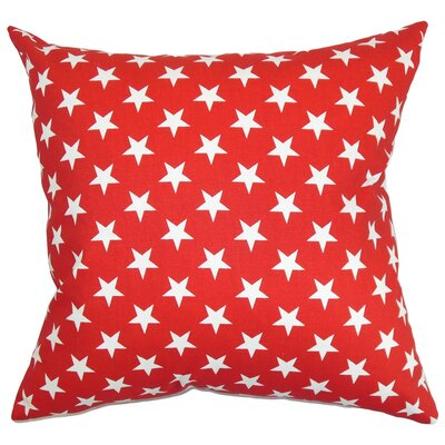 Sitara Cotton Throw Pillow Color: Lipstick, Size: 22 x 22