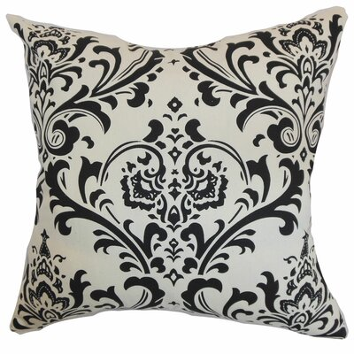 Olavarria Damask Bedding Sham Size: Euro, Color: Black/White