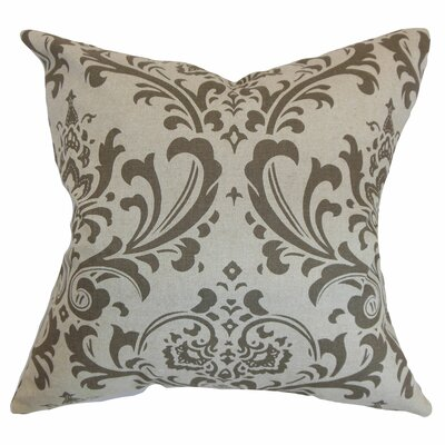 Olavarria Damask Bedding Sham Size: Standard, Color: Brown/Natural