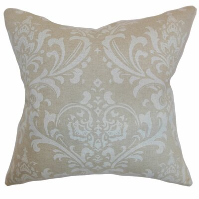 Olavarria Damask Bedding Sham Size: King, Color: Cloud Linen