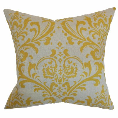 Olavarria Damask Bedding Sham Size: King, Color: Corn Yellow