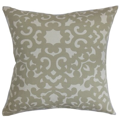 Wilona Cotton Throw Pillow Color: Cloud, Size: 18x18