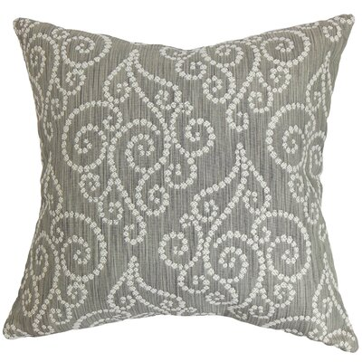Cienne Swirls Throw Pillow Color: Graphite, Size: 20 x 20
