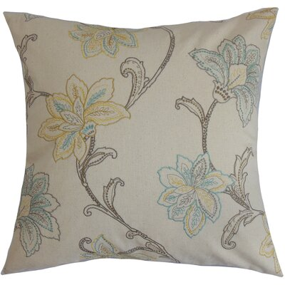 Eimear Cotton Throw Pillow Color: Pumice, Size: 18x18