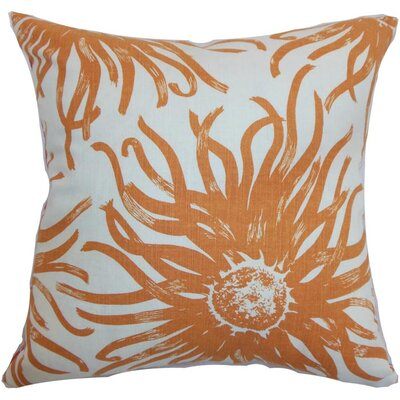 Ndele Floral Throw Pillow Cover Color: Papaya