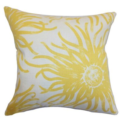 Ndele Floral Throw Pillow Cover Color: Yellow