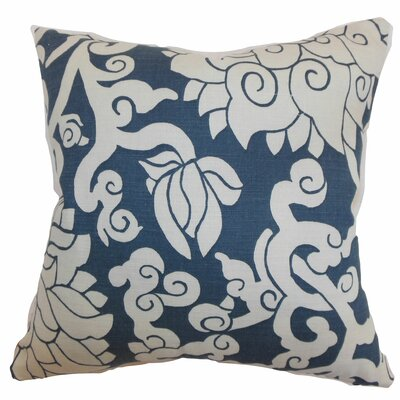 Erdenet Floral Throw Pillow Color: Smoke, Size: 18 x 18