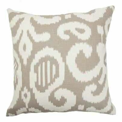 Teora Ikat Bedding Sham Color: Fog, Size: Queen
