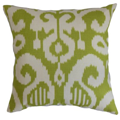 Teora Ikat Throw Pillow Cover Color: Lime