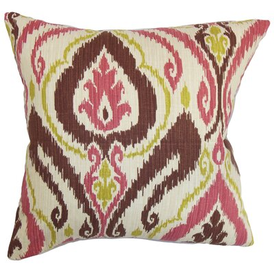 Obo Ikat Cotton Throw Pillow Size: 18 x 18