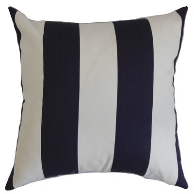Leesburg Cotton Throw Pillow Color: Blue / White, Size: 24 x 24