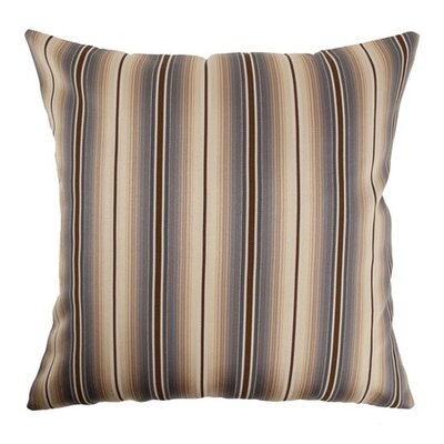 Bailey Stripes Throw Pillow Color: Blue / Brown, Size: 20 x 20